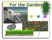 Garden Products: Plants and yard objects.